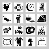 Vector isolated sleep concept icons set — Stock Vector