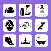 Spa related vector icon set — Stock Vector