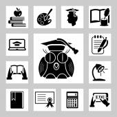 Education related icons set — Stok Vektör