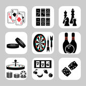 Vector games related icon set — Stock Vector