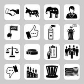 Election and voting vector icon set — Stock Vector