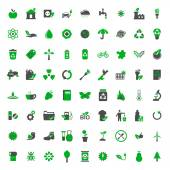 Ecology and environment vector icons set — Stock Vector