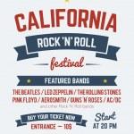 Rock festival design template — Stock Vector #72605351