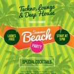 Summer Beach Party Flyer — Stock Vector #72605477