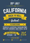 Rock festival design template — Stock Vector