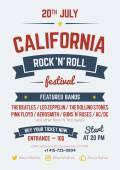 Rockový festival návrhu šablony — Stock vektor