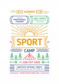 Sport Camp Poster — Stock Vector