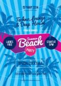 Panfleto de festa de praia verão — Vetor de Stock