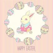复活节兔子 — 图库矢量图片