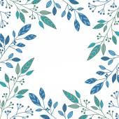 Foliage frame — Stock Vector