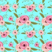 矢量无缝模式与玫瑰 — 图库矢量图片