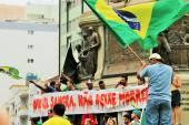 Santos, Brazil - March, 15, 2015 - Protests in Brazil — Foto de Stock