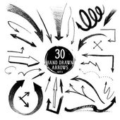 Hand-drawn arrows — Stock Vector