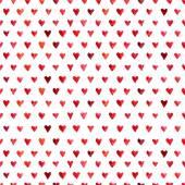 Watercolor hearts pattern — Stock Vector