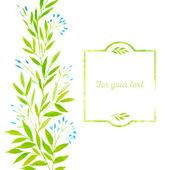 Watercolor spring leaves — Stockvektor