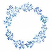 Watercolor blue flora — Stock Photo