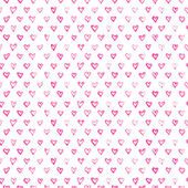 Watercolor hearts pattern — Stock Photo