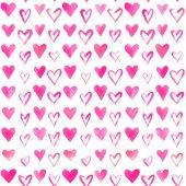 Akvarell hjärtan mönster — Stockfoto