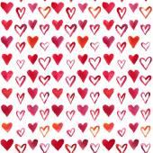 Watercolor hearts pattern — Stock Photo