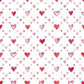Watercolor hearts pattern — Stok fotoğraf