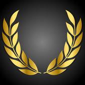 Goldenen Lorbeerkranz — Stockvektor
