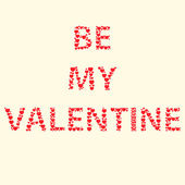 Be my Valentine inscription — Stock Vector
