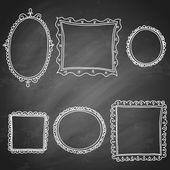 Set of hand drawn frames — Stock Vector