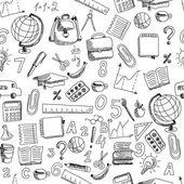 School doodle repeated pattern — Stockvector