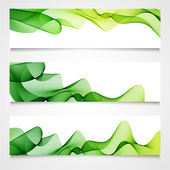 Green abstract waves design — Stock Vector