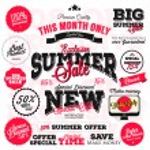 Set of vector summer sales labels and sticker design — Foto Stock #67524143