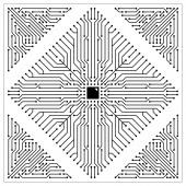 Microchip Vector Background — Stock Vector