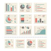 Design Elements - Analytics, statistic report - vectors set 2 — Stock Vector