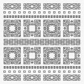 Ancient pattern - second tribal elements white — Stock Vector