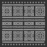 Tribal pattern - next background endless elements black — Stock Vector #79186824
