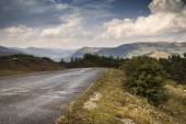 High Altitude Mountain Road — Stock Photo