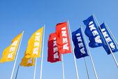 IKEA flags — Stock Photo