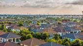 Village of townhouses. View from the height. — Stock Photo