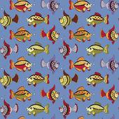 Modèle avec poissons — Vecteur
