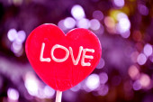 Red heart close-up — Stock Photo