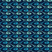 Creative fish and eye — Stock Vector