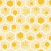 Vector honeycomb pattern yellow — Stock Vector