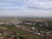 Letecký pohled Bernal město v Queretaro, Mexiko — Stock fotografie