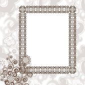 Frame in vintage style — Stock Vector