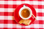 A red cup of coffee — Stock Photo
