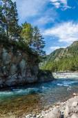 Confluence Katun and Chemal — Stock Photo