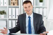 Joyful business man — Fotografia Stock