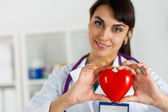 Cardiology care,health, protection and prevention — Stock Photo
