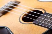 Small Hawaiian four stringed ukulele guitar — Stock Photo
