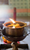 Oil lamp in the temple thailand — Stock Photo