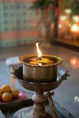 Oil lamp in the temple thailand — Stockfoto